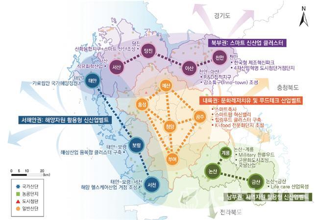 (18일) 서천군, 현안 사업 제5차 국토종합계획에 대거 반영(충남도 국토종합계획 공간발전구상도).jpg