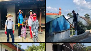 [포토뉴스] 서면지역사회보장협의체, 해충 방제 우리 손으로 '마무리'
